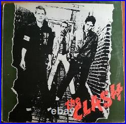 THE CLASH First LP Gold Stamp On Back PROMO UK Pressing 1977 S CBS 82000 R